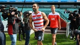 Adam Goodes retired in 2015 after 372 matches for the Sydney Swans