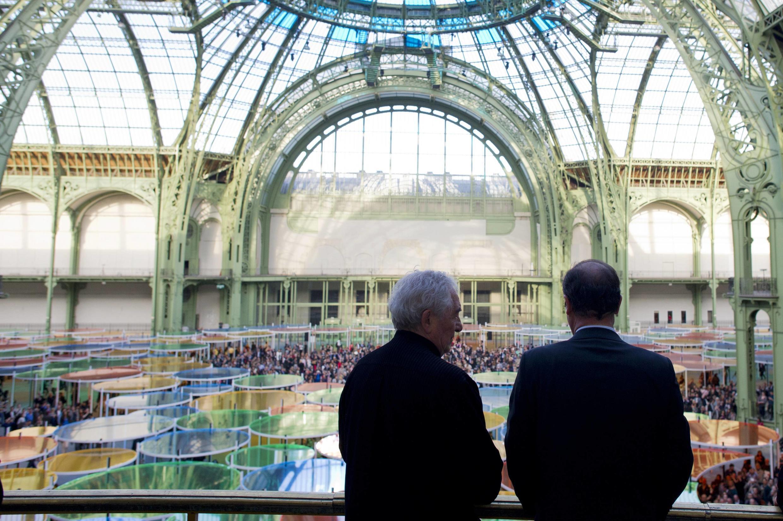 Даниель Бюрен и Франсуа Олланд в Гран Пале, Париж, 9 мая  2012 года