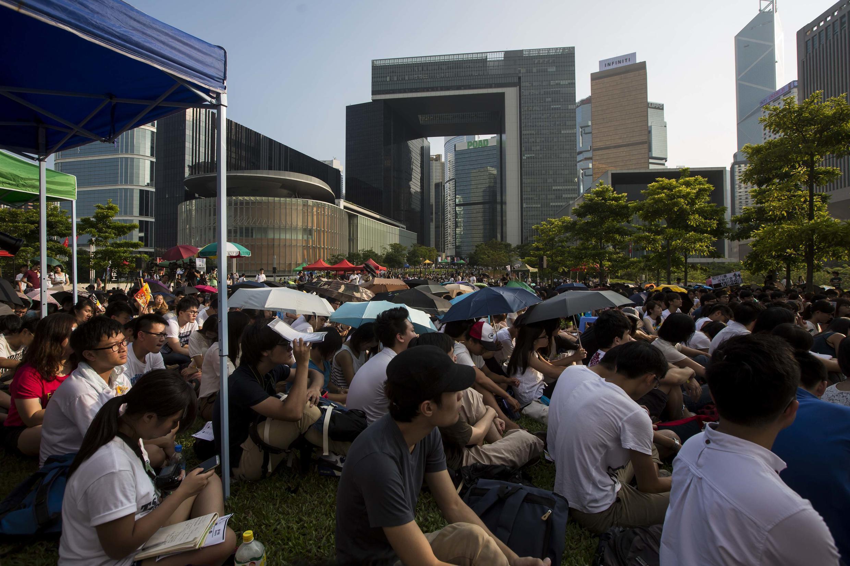 Sinh viên Hồng Kông tiếp tục biểu tình đòi bầu cử dân chủ, ngày 23/09/2014.