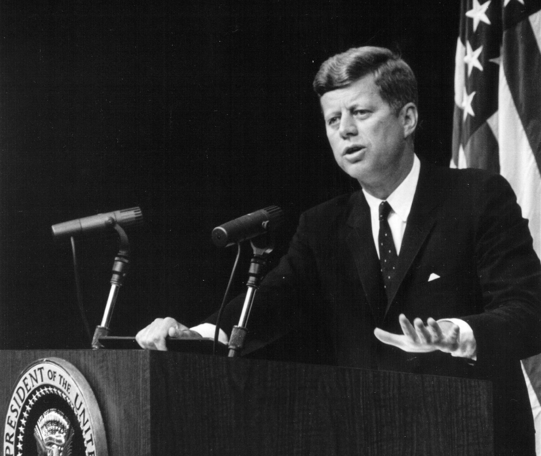 Le président américain John F. Kennedy, le 13 septembre 1962.