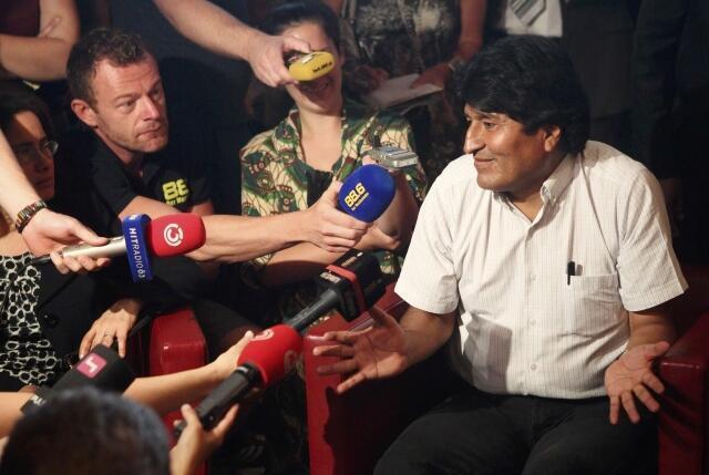 "O presidente da Bolívia, Evo Morales, julgou as desculpas dos países europeus ""insuficientes""."