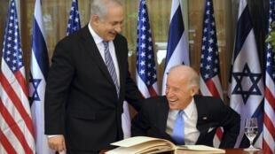 جو بایدن و بنیامین نتانیاهو.