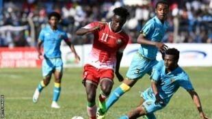 Kenya ikikabiliana na Zanzibar katika fainali ambayo Harambee Stars ilishinda kwa mabao 4-3 katika uwanja wa Kenyatta mjini Machakos