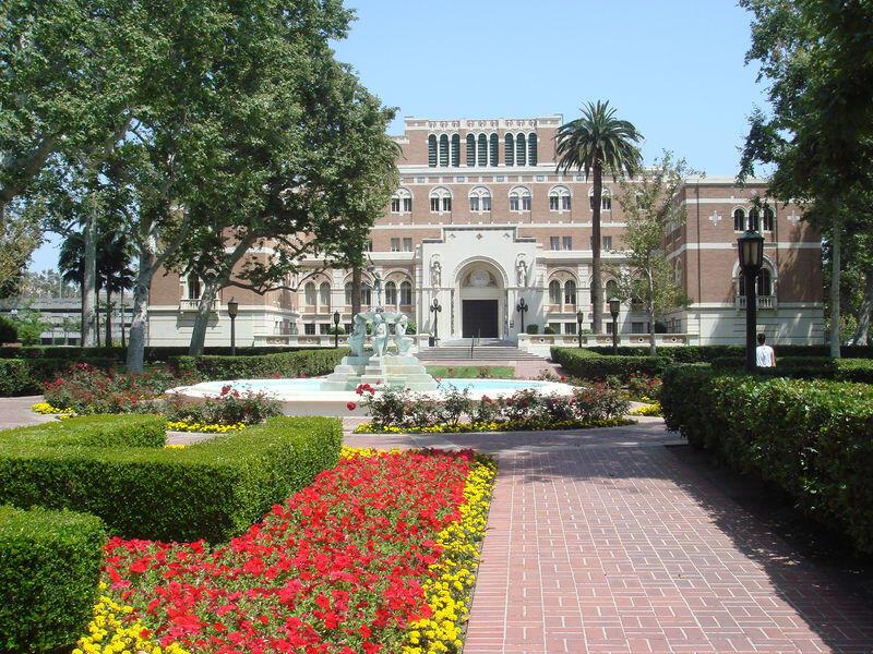 Sur le campus de l'université de Californie du Sud.