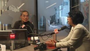 (资料图片)陈芳明和范铭如教授接受法广访谈