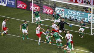 Lors du match Pologne - Irlande du Nord, le 12 juin 2016.