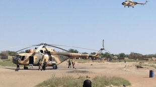 Helicópteros do Chade deram apoio ao avanço das tropas terrestres em Gamboru.