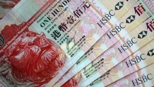 香港货币百元纸钞