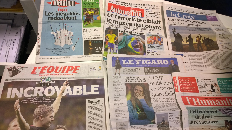 Diários franceses 09/07/2014