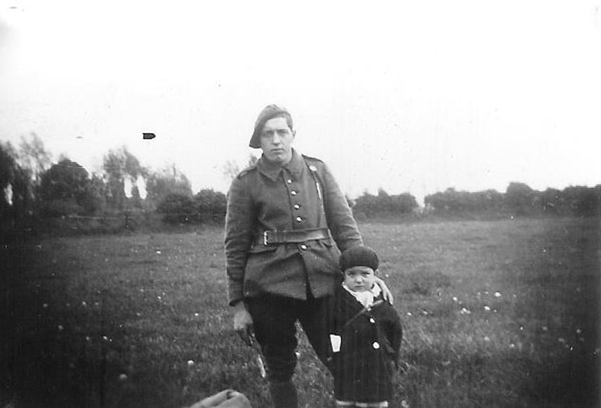 Marcel Pinte (right) is regarded as France's youngest-ever wartime resistance hero