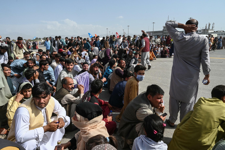 000_9L874B Afghanistan talibans aéroport Kaboul