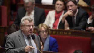 Le secrétaire d'Etat au Budget, Christian Eckert lors des questions au gouvernement à l'Assemblée nationale, le 4 novembre.