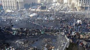 Баррикады на Майдане в Киеве 20/02/2014