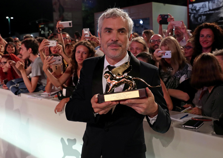 """El mexicano Alfonso Cuarón ganó el León de Oro en Venecia por """"Roma""""."""