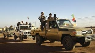Fighters of the Tuareg separatist MNLA in Kidal earlier this month