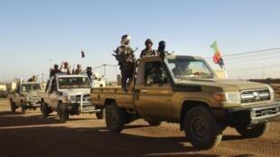 Soldats du MNLA à Kidal le 4 février 2013.