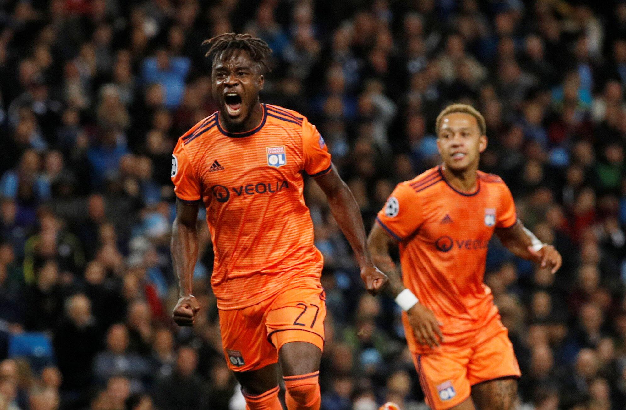 L'Ivoirien Maxwel Cornet a ouvert le score pour Lyon à Manchester City, le 19 septembre 2018.