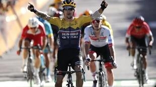 Primoz Roglic remporte la 4e étape de l'édition 2020 de la Grande Boucle.