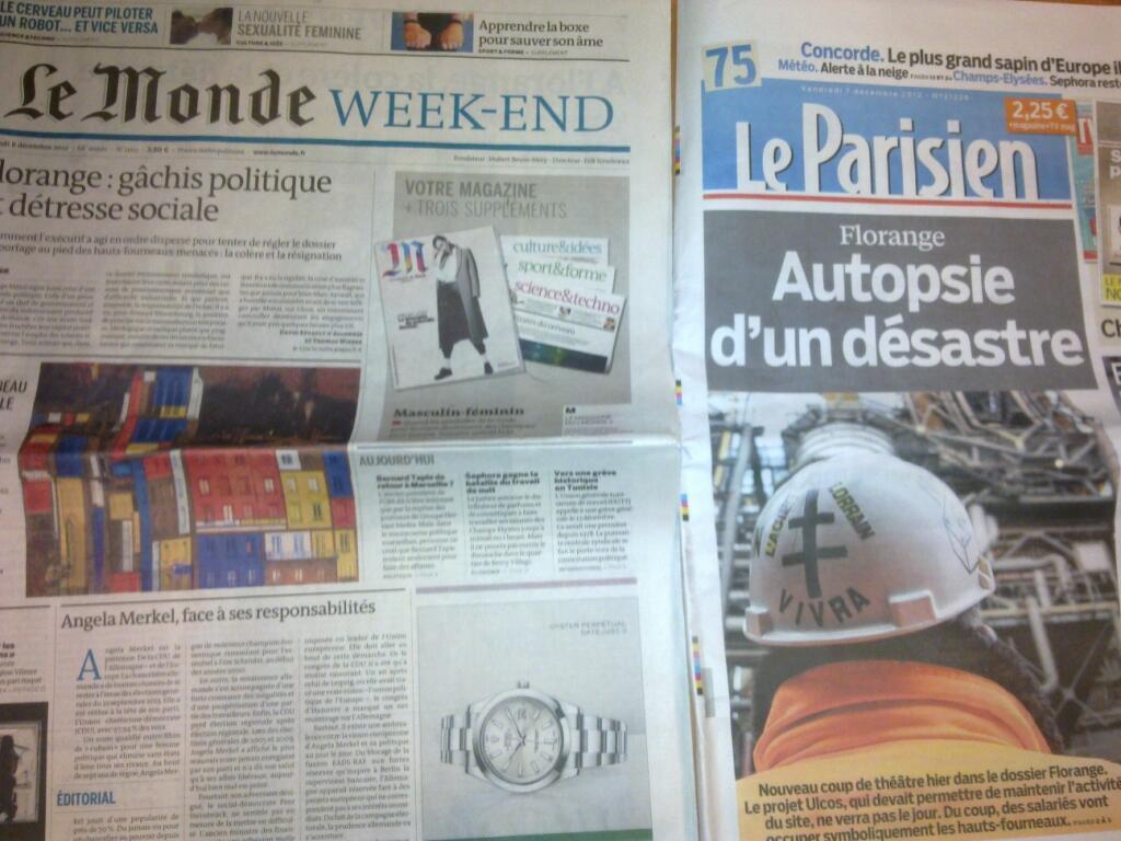 Diários franceses  07/12/2012
