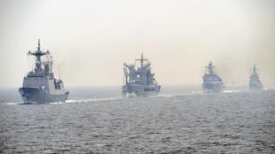 韓國海軍在朝鮮戰爭60年之際進行海上演練