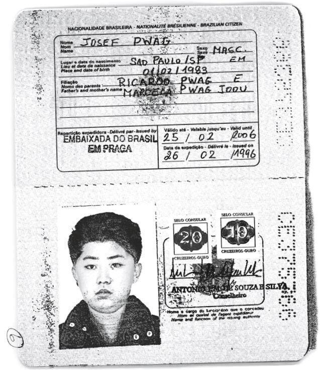 Scanner de um autêntico passaporte brasileiro fraudado pelo líder norte-coreano Kim Jong-un para viajar pelo mundo.