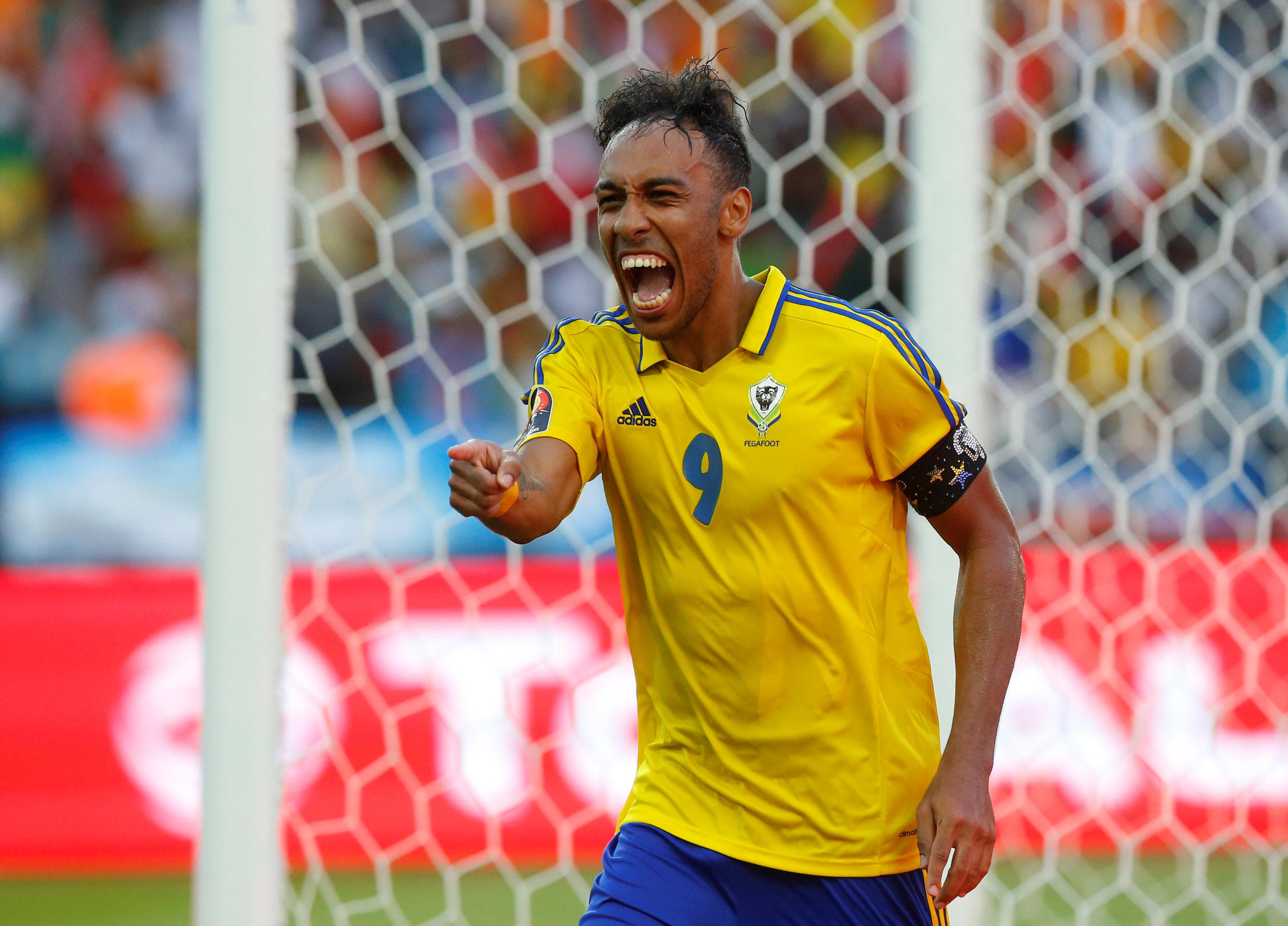 Gabon skipper Pierre-Emerick Aubameyang scored the first goal at the 2017 Africa Cup of Nations.
