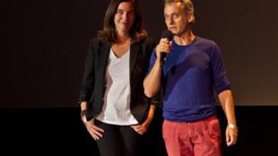 Les auteurs d'Alma, Miguel Dewever Plana et Isabelle Fougère.