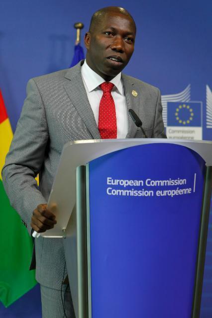 Domingos Simões Pereira, primeiro-ministro guineense, na sede da Comissão Europeia em Bruxelas a 16 de Julho de 2014.