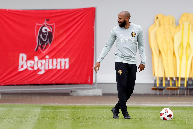 Thierry Henry, huấn luyện phó đội tuyển bóng đá Bỉ (Ảnh chụp ngày 09/07/2018)