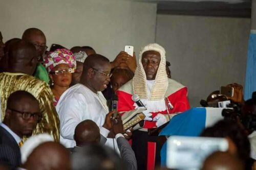 Sierra Leone President Julius Bio takes oath of office, Freetown, 5, April 2018