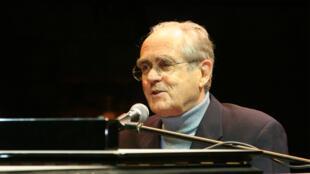 Michel Legrand, le 5 juin 2006, en Israël.