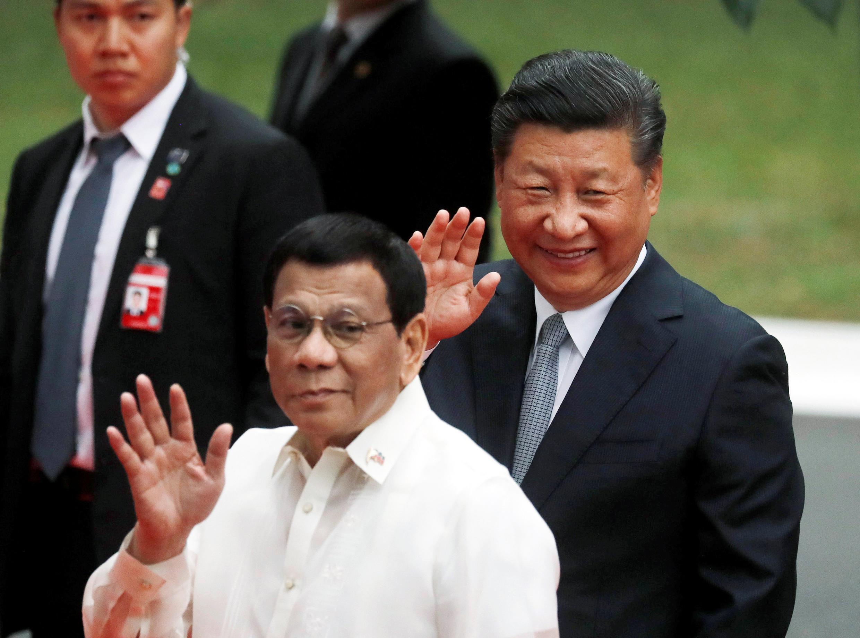 11月20日,中國國家主席習近平與菲律賓總統杜特爾特在馬尼拉。