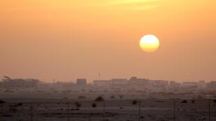 La nouvelle ville de Lusail au Qatar, qui accueillera la finale de la Coupe du Monde en 2022.