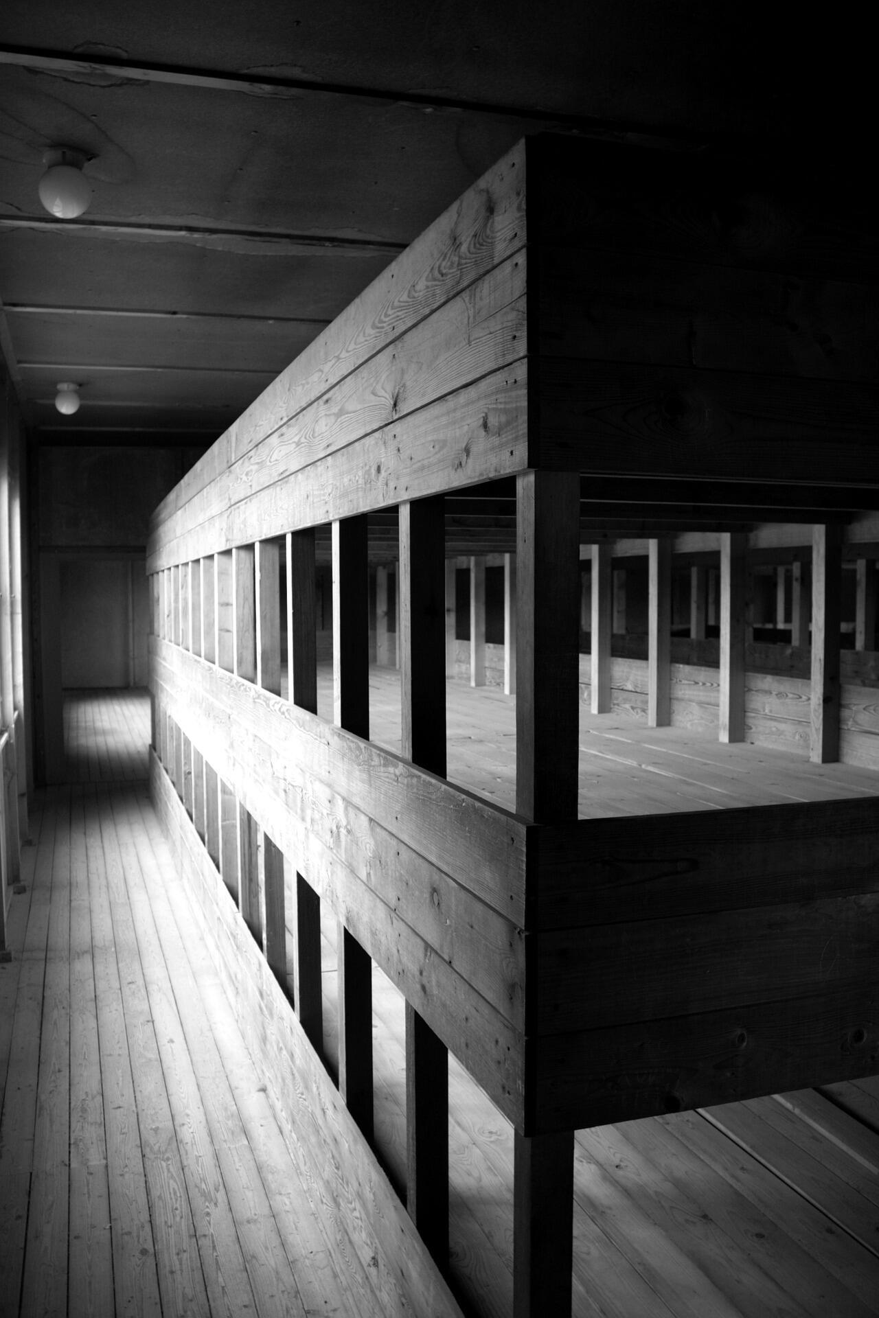 Нары в концлагере Дахау
