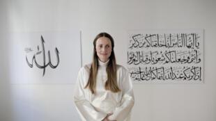 A imame Sherin Khankan, que dirige a primeira mesquita só para mulheres da Europa