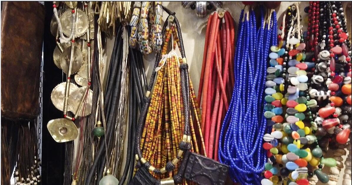 African jewellery at the Maison et Objet fair 2019 in Paris