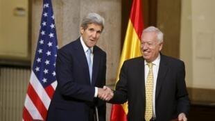 John Kerry com o seu homólogo espanhol José Manuel García Margallo