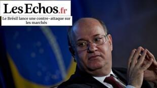 O jornal Les Echos fala do desesperado contra-ataque do Banco Central do Brasil para tentar frear a alta do dólar.