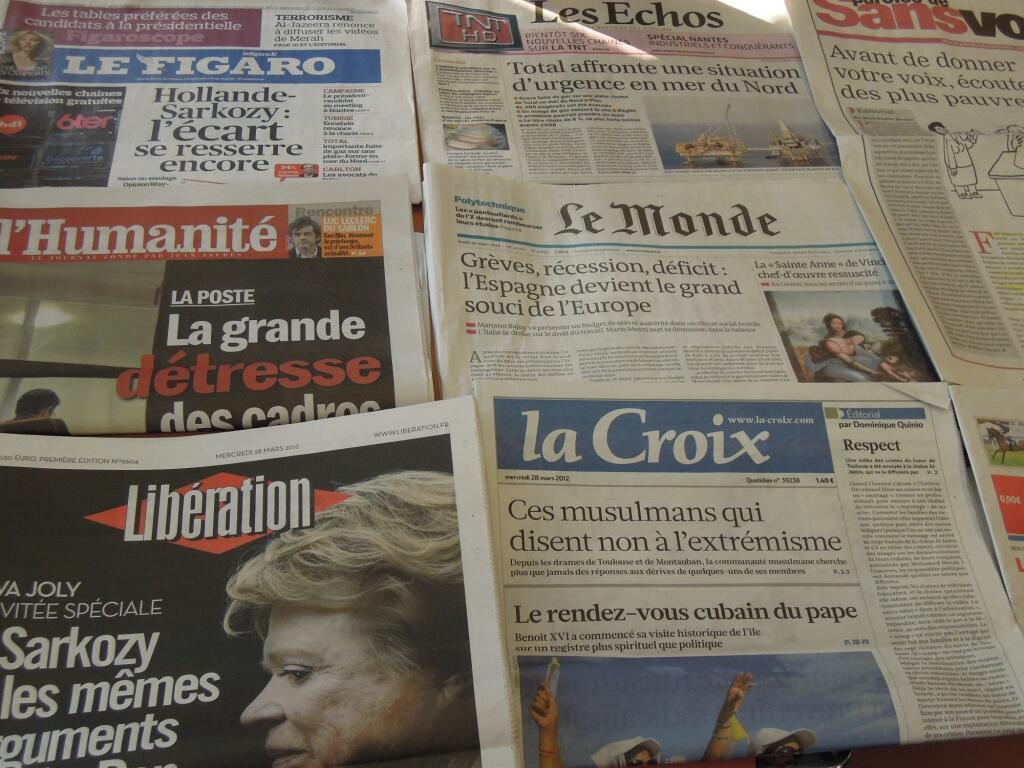 Diários franceses    28/03/2012