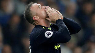 Wayne Rooney celebrates after scoring for Everton against Mancheter City last year
