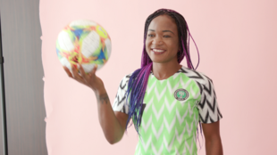 A screenshot of an RFI video portrait of Nigerian striker Francisca Ordega in the French city of Reims on 5 June 2019.