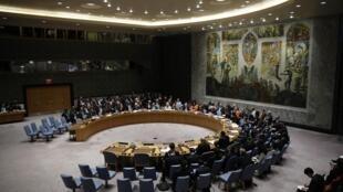 La salle du Conseil de sécurité de l'ONU à New York.
