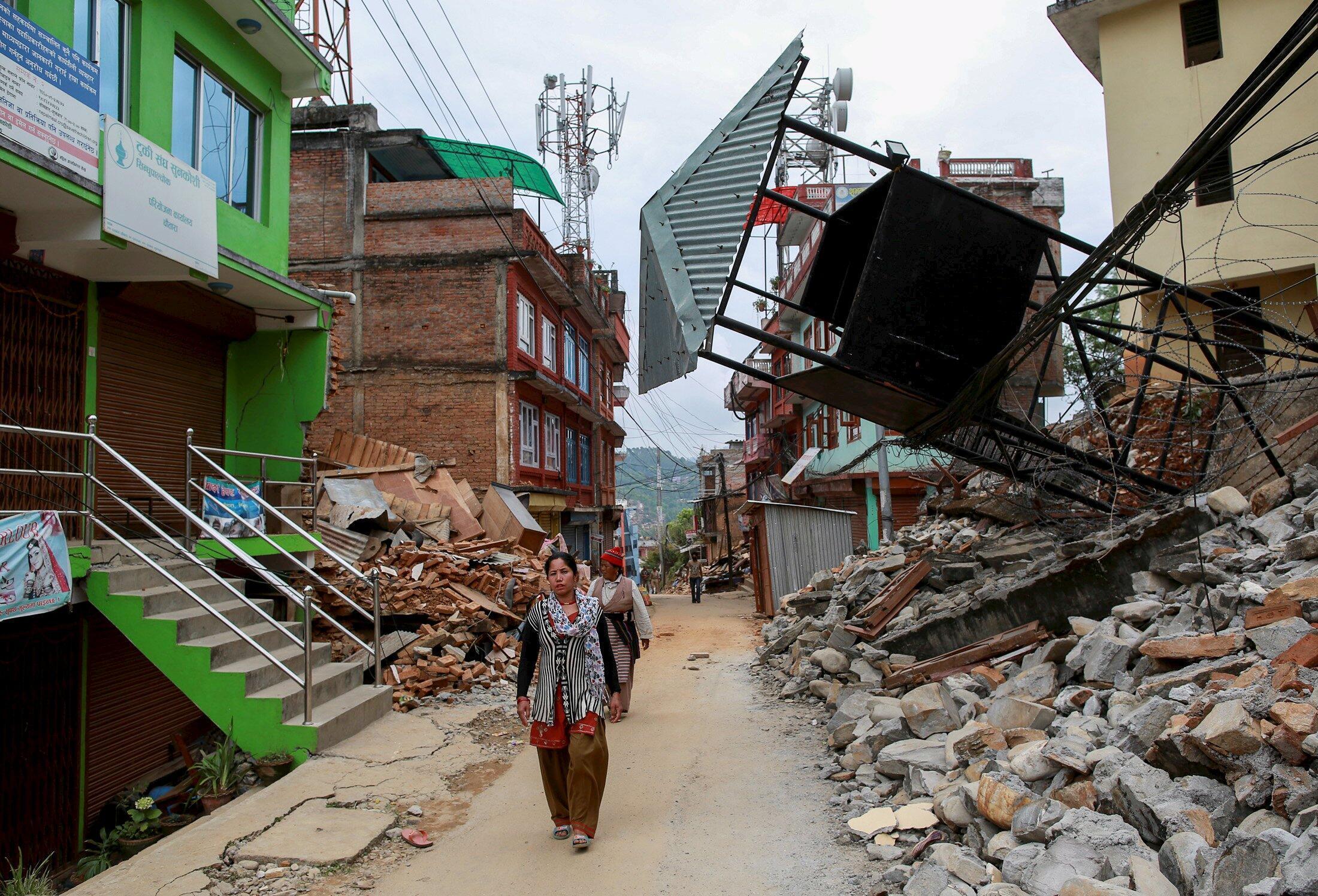 Nepal sau thiên tai. Ảnh ngày 25/04/2015
