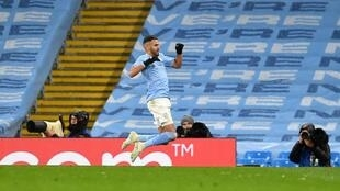 Le milieu algérien de Manchester City, Riyad Mahrez, auteur d'un doublé lors de la demi-finale retour à domicile de la Ligue des champions face au Paris-SG, le 4 mai 2021