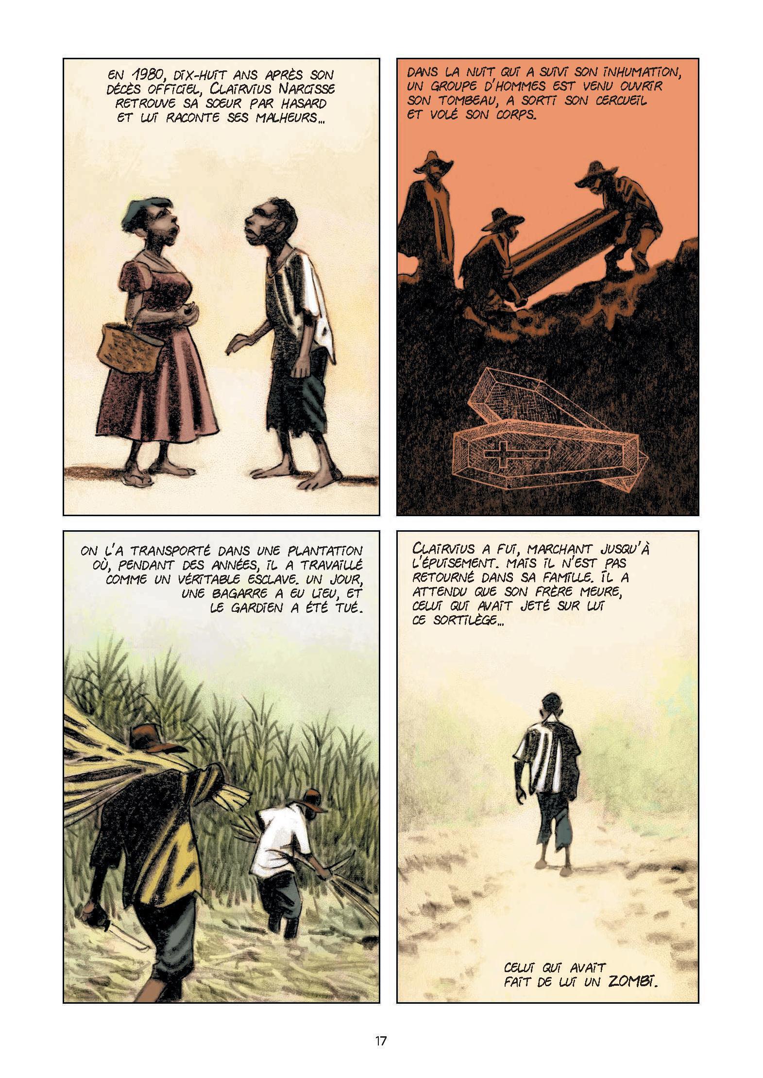 Le dessinateur Richard Guérineau illustre les textes que Philippe Charlier a rapporté de son enquête en Haïti.