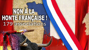 Imagem da campanha contra as touradas na França