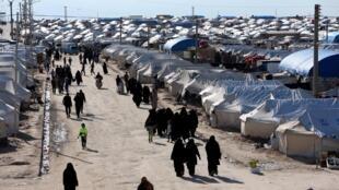 Vue générale du camp de Al-Hol en Syrie où s'entassent 76.000 réfugiés en avril 2019.