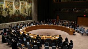 Ảnh tư liệu: Phiên họp Hội Đồng Bảo An Liên Hiệp Quốc ngày 22/12/2017 thông qua nghị quyết trừng phạt Bắc Triều Tiên.