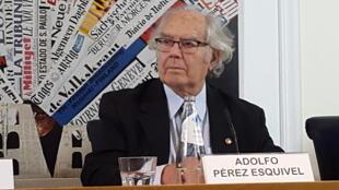 O arquiteto, ativista e Prêmio Nobel da Paz Adolfo Pérez Esquivel