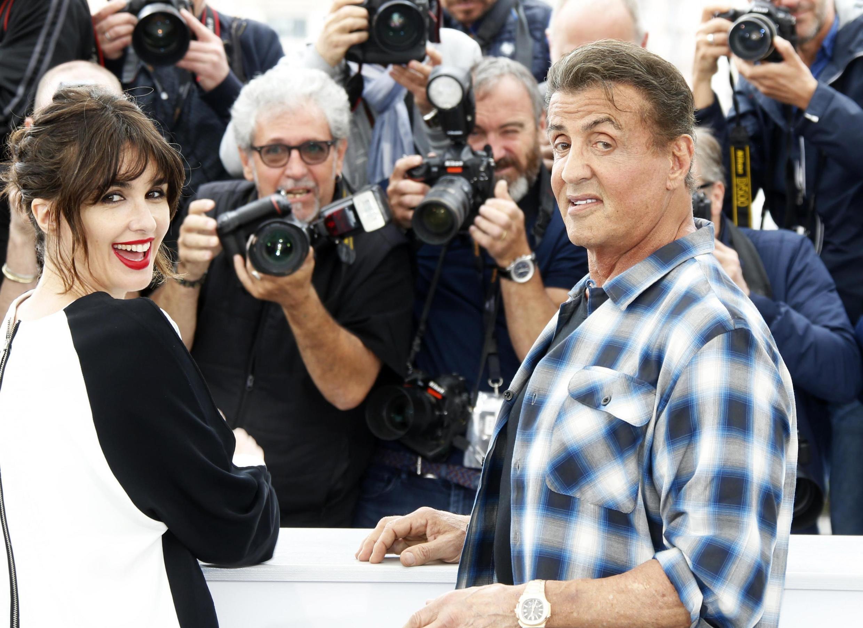 """Sylvester Stallone está em Cannes para apresentar o filme """"Rambo V: Last Blood"""" - Cannes, França, 24 de maio de 2019."""